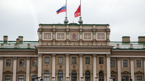 St. Petersburg saldırısının ardından Rusya'da bayraklar yarıya indirildi. - Sputnik Türkiye