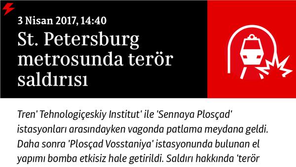 St. Petersburg metrosunda patlama - Sputnik Türkiye