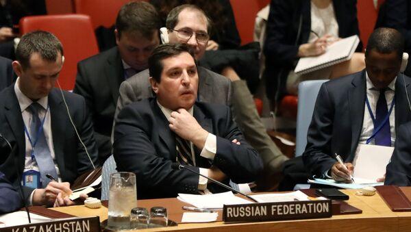 Rusya'nın Birleşmiş Milletler (BM) Daimi Temsilci Yardımcısı Vladimir Safronkov - Sputnik Türkiye