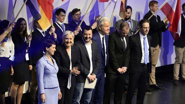 Frauke Petry - Marine Le Pen - Matteo Salvini - Geert Wilders - Sputnik Türkiye