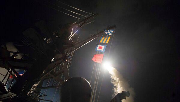Suriye'deki Şayrat üssünü vuran USS Ross destroyeri - Sputnik Türkiye