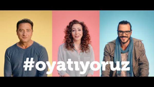 Ünlülerden 'Sandığa gidin' videosu - Sputnik Türkiye