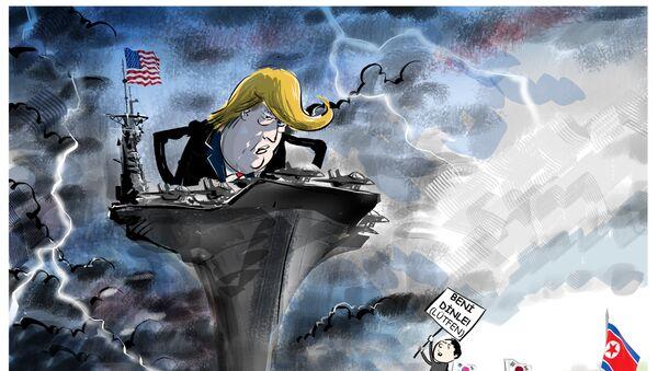 Trump.Kuzey Kore - Sputnik Türkiye