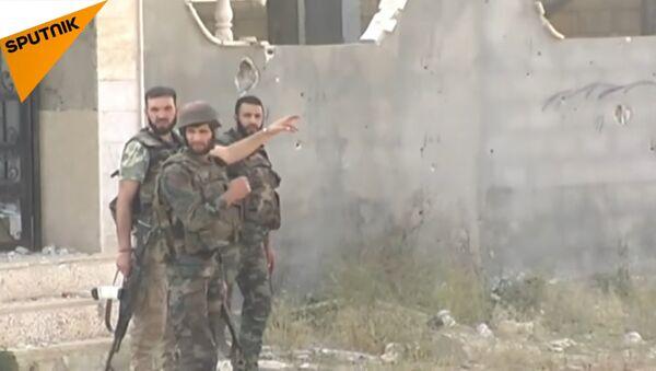 Suriye ordusu, çetelere karşı savaşıyor - Sputnik Türkiye