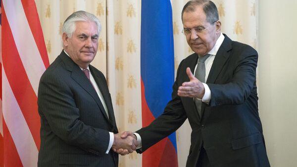 Rusya Dışişleri Bakanı Sergey Lavrov- ABD'li mevkidaşı Rex Tillerson - Sputnik Türkiye