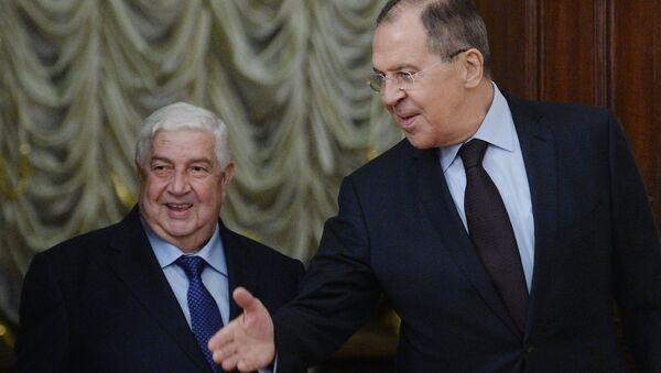 Suriye Dışişleri Bakanı Velid Muallim ve Rusya Dışişleri Bakanı Sergey Lavrov - Sputnik Türkiye