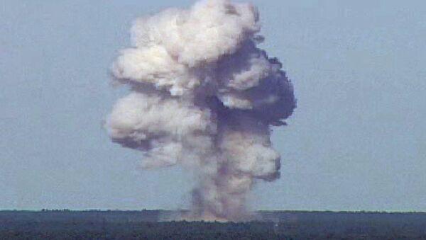 The GBU-43/B, also known as the Massive Ordnance Air Blast, detonates during a test at Elgin Air Force Base, Florida, U.S., November 21, 2003 in this handout photo provided April 13, 2017. - Sputnik Türkiye