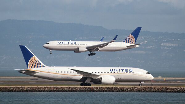 United Havayolları uçağı - Sputnik Türkiye