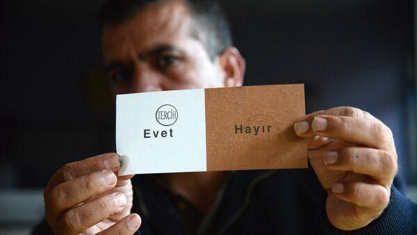 referandum - oy sayımı - evet - Sputnik Türkiye