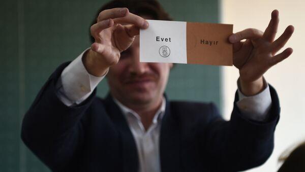 referandum- oy sayımı - evet - Sputnik Türkiye