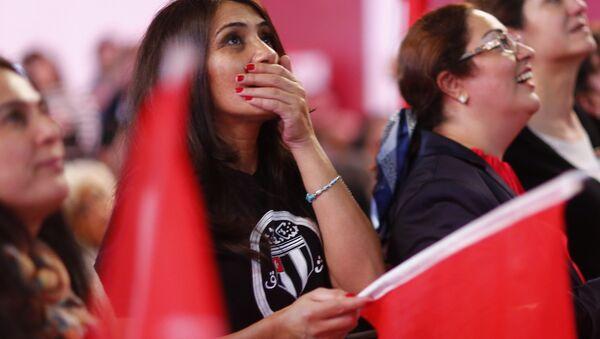 Almanya'da yaşayan Türkiye vatandaşı CHP'liler, seçim sonuçlarını parti temsilciliğinde takip etti - Sputnik Türkiye