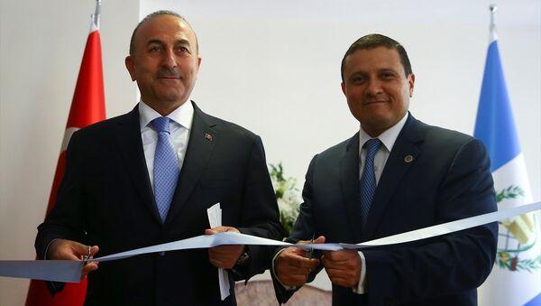Dışişleri Bakanı Mevlüt Çavuşoğlu, Guatemalalı mevkidaşı Carlos Raul Morales - Sputnik Türkiye