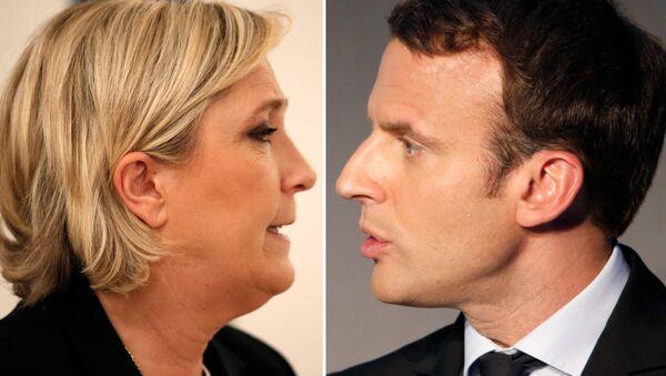 Marine Le Pen ve Emmanuel Macron - Sputnik Türkiye
