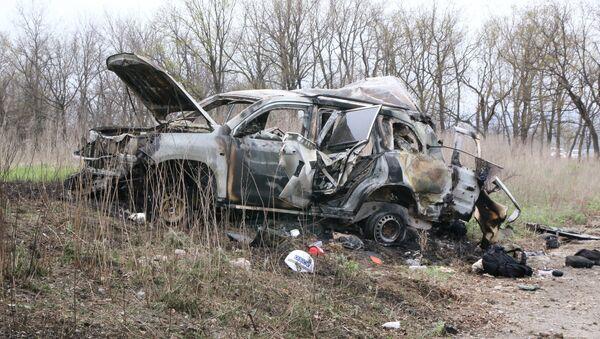 Donbass'ta AGİT Ukrayna Özel Gözlem Misyonu aracında meydana gelen patlama - Sputnik Türkiye