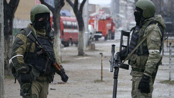 Dağıstan'da Rus özel harekat askerleri - Sputnik Türkiye