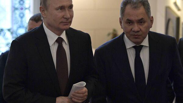 Rusya Devlet Başkanı Vladimir Putin- Rusya Savunma Bakanı Sergey Şoygu - Sputnik Türkiye
