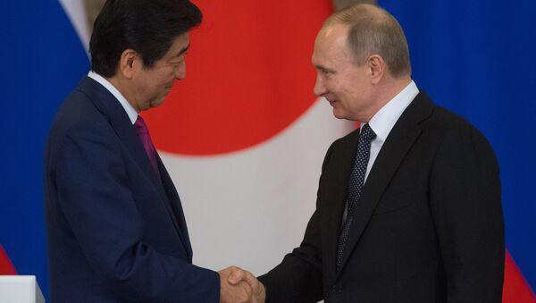 Rusya Devlet Başkanı Vladimir Putin, Japonya Başbakanı Şinzo Abe ile görüştü - Sputnik Türkiye