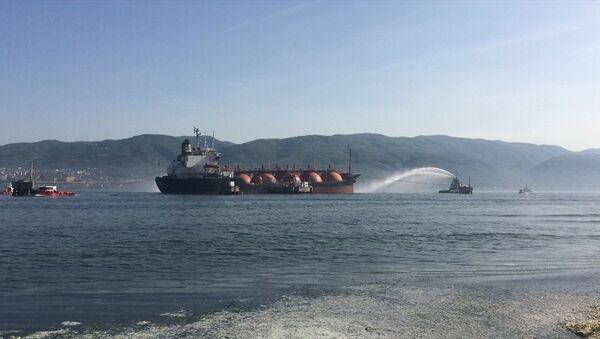 LPG tankerinde yangın - Sputnik Türkiye