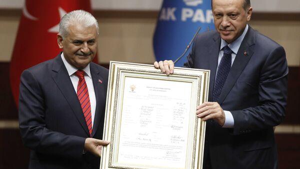 Cumhurbaşkanı Erdoğan, AK Parti'ye üye oldu - Sputnik Türkiye