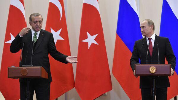 Rusya Devlet Başkanı Vladimir Putin- Türkiye Cumhurbaşkanı Recep Tayyip Erdoğan - Sputnik Türkiye
