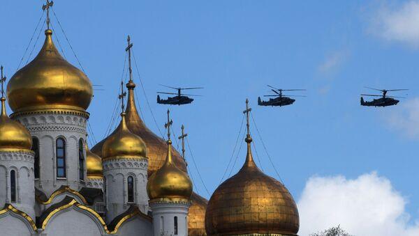 Ka-52 'Alligator' saldırı helikopterleri. - Sputnik Türkiye