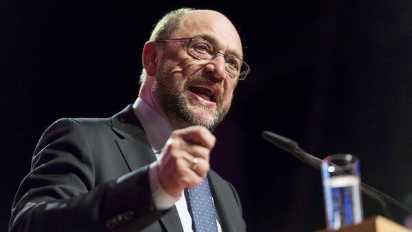 Almanya'da Sosyal Demokrat Parti SPD'nin başbakan adayı ve eski AP Başkanı Martin Schulz - Sputnik Türkiye