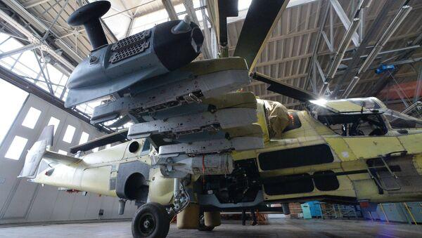 Ka-52, savaş sahasında zırhlı ve zırhsız araçları, insan gücünü ve hava hedeflerini imha etme kabiliyetine sahip. - Sputnik Türkiye