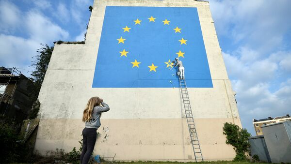 Banksy-Brexit - Sputnik Türkiye