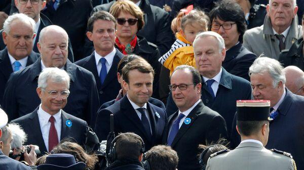 François Hollande - Emmanuel Macron - Sputnik Türkiye