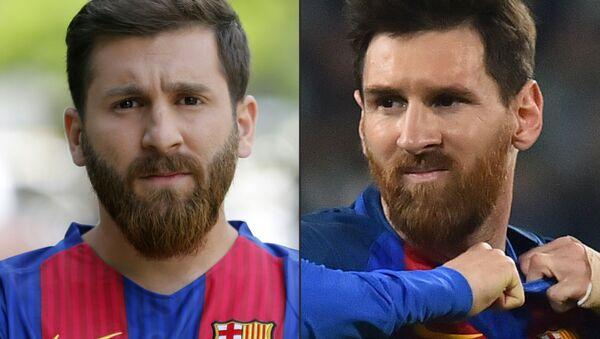 Reza Parastesh ve Lionel Messi - Sputnik Türkiye