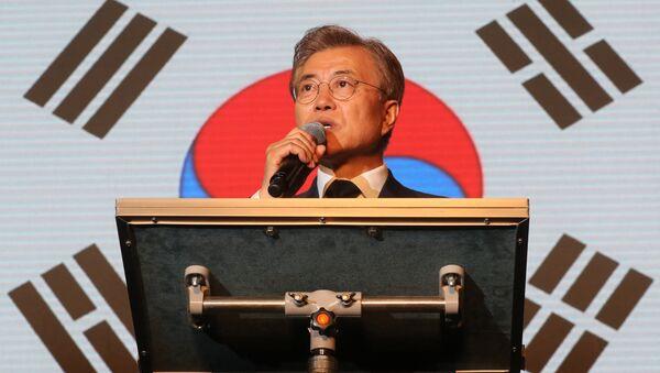 Güney Kore cumhurbaşkanlığı seçimlerini kazanan Moon Jae-In - Sputnik Türkiye
