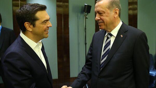 Cumhurbaşkanı Recep Tayyip Erdoğan- Yunanistan Başbakanı Aleksis Çipras - Sputnik Türkiye
