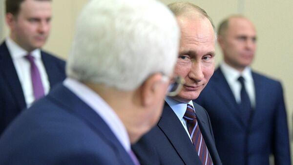Rusya Devlet Başkanı Vladimir Putin- Filistin lideri Mahmud Abbas - Sputnik Türkiye