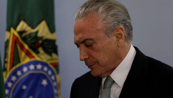 Rüşvetle suçlanan Brezilya Devlet Başkanı Temer: İsitfa etmeyeceğim - Sputnik Türkiye
