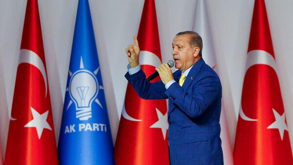AK Parti 3. Olağanüstü Büyük Kongresi - Cumhurbaşkanı Recep Tayyip Erdoğan - Sputnik Türkiye