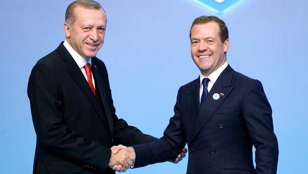 Cumhurbaşkanı Recep Tayyip Erdoğan- Rusya Başbakanı Dmitriy Medvedev - Sputnik Türkiye
