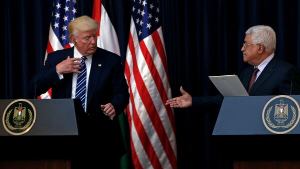 ABD Başkanı Donald Trump - Filistin Devlet Başkanı Mahmud Abbas - Sputnik Türkiye