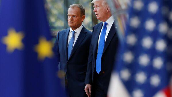 ABD Başkanı Donald Trump ve Avrupa Konseyi Başkanı Donald Tusk - Sputnik Türkiye