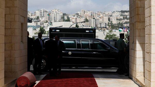 ABD Başkanı Donald Trump'ın özel yapım limuzini - Sputnik Türkiye