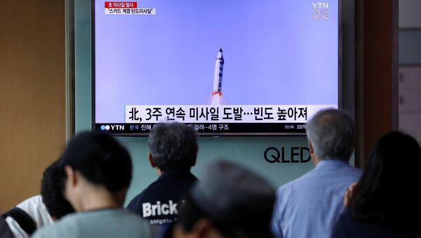 Kuzey Kore'den yeni balistik füze denemesi - Sputnik Türkiye