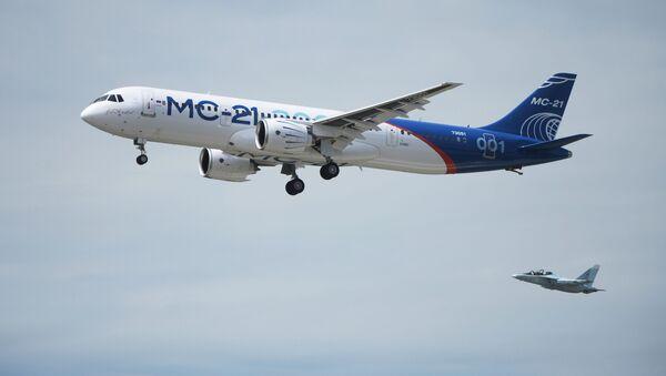 MS-21 tipi Rus yolcu uçağı - Sputnik Türkiye