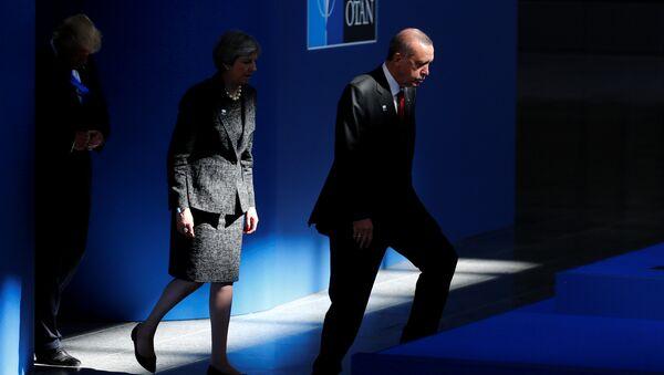 Donald Trump - Theresa May - Recep Tayyip Erdoğan - Sputnik Türkiye