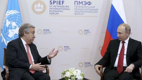 Antonio Guterres-Vladimir Putin - Sputnik Türkiye