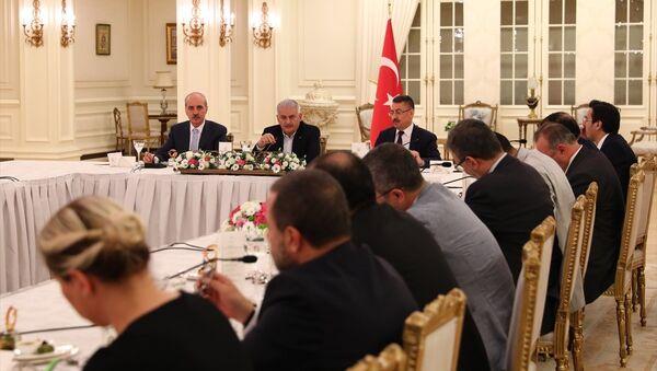 Başbakan Binali Yıldırım, iftarda medya temsilcileriyle bir araya geldi - Sputnik Türkiye