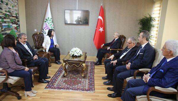 CHP lideri Kemal Kılıçdaroğlu, HDP Genel Merkezi'ni ziyaret etti - Sputnik Türkiye