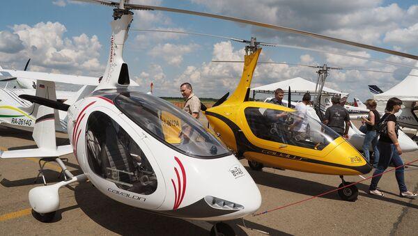 Mini helikopter olarak adlandırılan gyrocopter - Sputnik Türkiye
