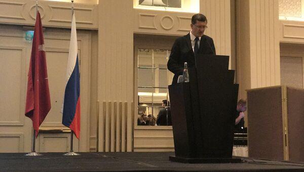'Rusya Milli Günü' resepsiyonunun açılış konuşmasını İstanbul Başkonsolosu Podyelışev yaptı - Sputnik Türkiye