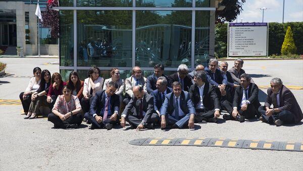 HDP'den AYM'nin önünde oturma eylemi - Sputnik Türkiye