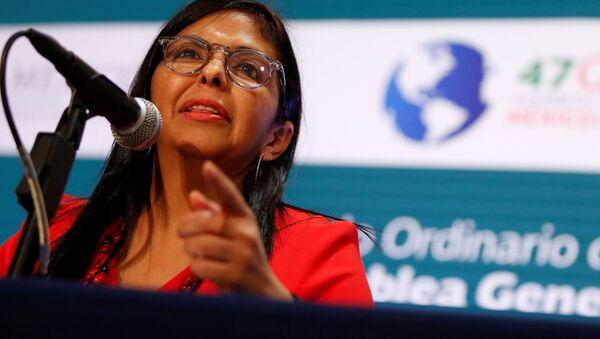 Venezüella Dışişleri Bakanı Delcy Rodriguez - Sputnik Türkiye