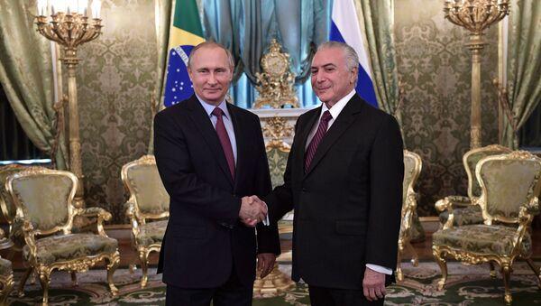 Vladimir Putin ve Michel Temer - Sputnik Türkiye